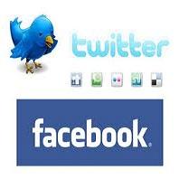Акции Facebook и Twitter