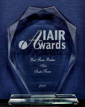 InstaForex - лучший брокер Азии по версии издания IAIR