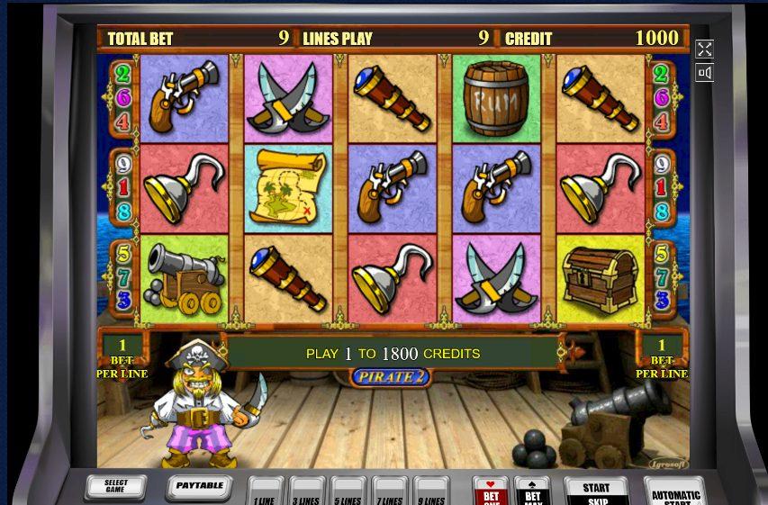 Описание игрового автомата Пират 2